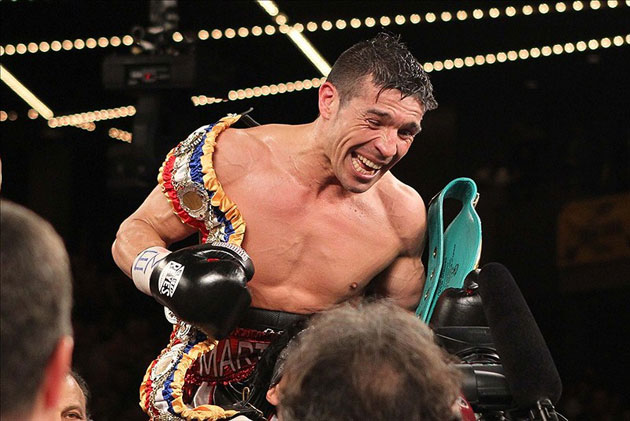 Sergio Martinez celebrates